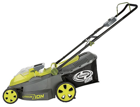 Sun Joe electric mower model ion16lm