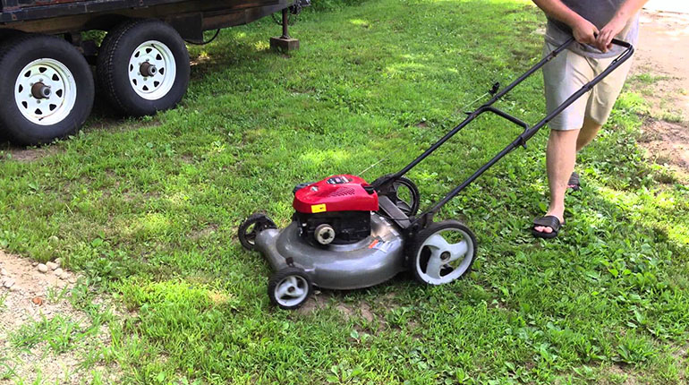 how to start a push lawn mower