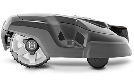 automatic lawn mower side view